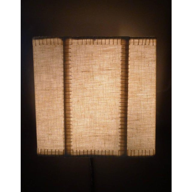2010s Hand-Stitched Laced Linen Shaded Wall Sconces For Sale - Image 5 of 7
