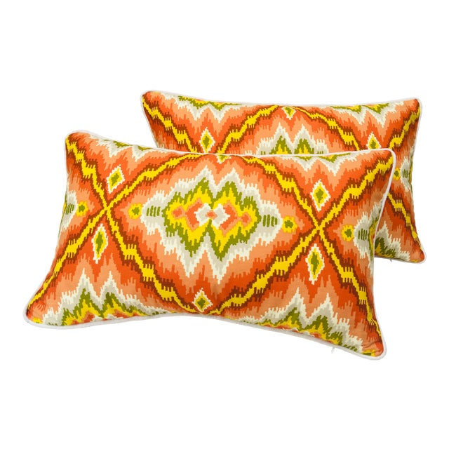 Mid Century Brunschwig and Fils Cotton Print Pillows - a Pair For Sale