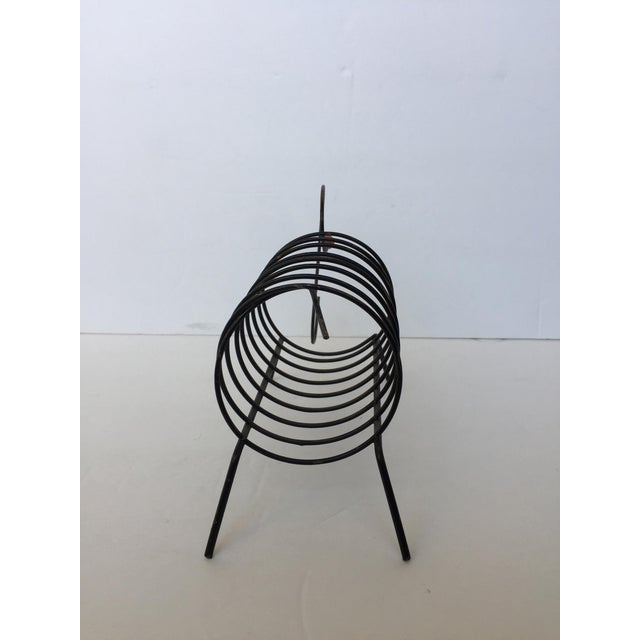 Vintage Mid-Century Black Metal Wire Mail Holder - Image 5 of 7