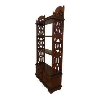 20th Century Chinoiserie Wall-Mounted Shelf/Cabinet For Sale