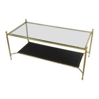French 1940s Brass Coffee Table in the Style of Maison Jansen