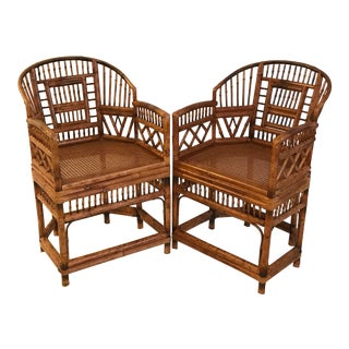 1950s Vintage Tortoise Shell Brighton Pavilion Chinoiserie Chairs - a Pair For Sale
