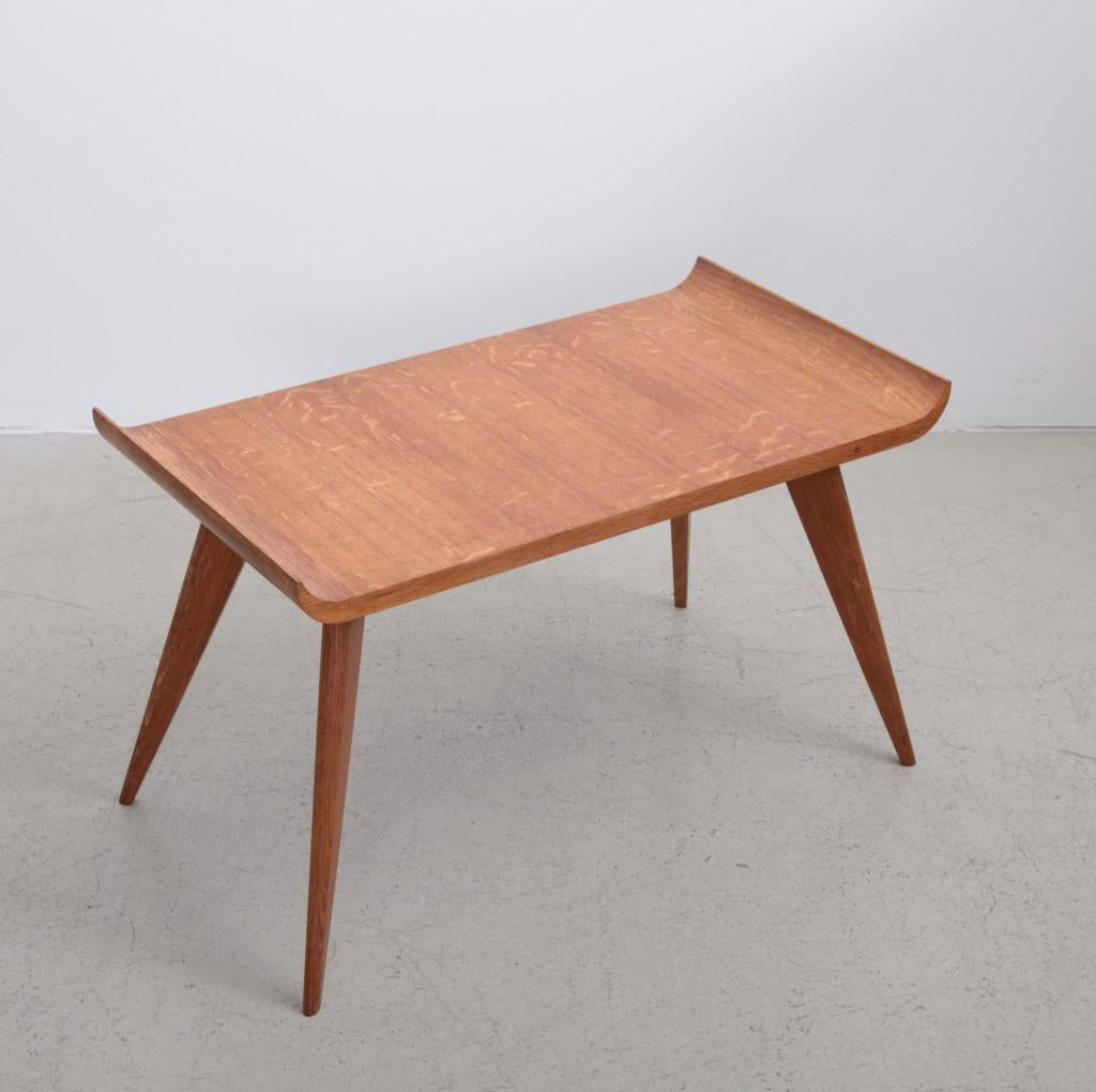 Spanish Modernist Pagoda Coffee Or Side Table In Oak By Manuel Barbero 1953    Image 2 Great Ideas