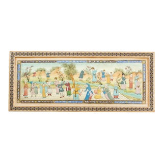 Vintage Isfahan Persian Painting For Sale