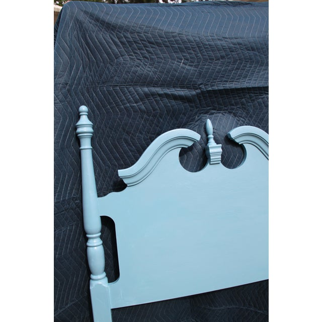 1990s Hollywood Regency Beach Blue Twin Headboards - a Pair For Sale - Image 5 of 6