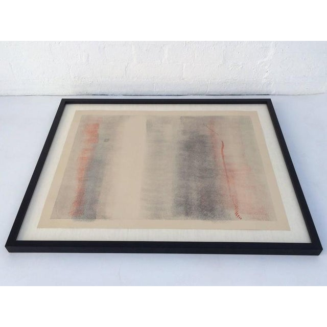 A stunning lithograph by listed artist Robert Natkin (1930-2010) signed and numbered 61/75. Dated 1979. Newly framed in a...