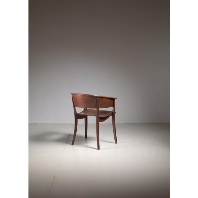 1920s Ernst Rockhausen Bauhaus Style Plywood and Oak Chair, Germany, circa 1928 For Sale - Image 5 of 9