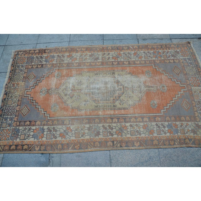 Anatolian Vintage Turkish Rug - 3′10″ × 6′9″ For Sale - Image 4 of 6
