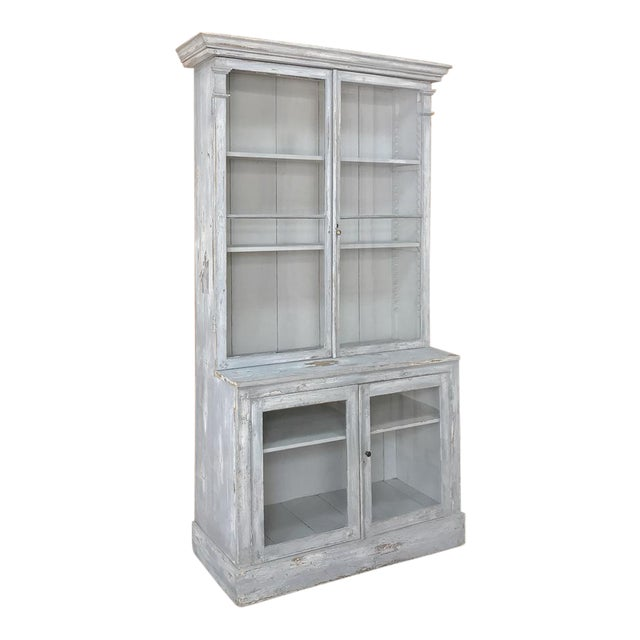 Antique French Painted Bookcase For Sale