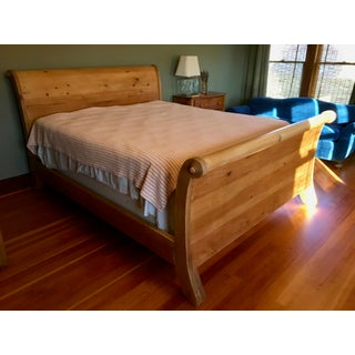 Rustic Restoration Hardware California King Sleigh Bedframe Preview