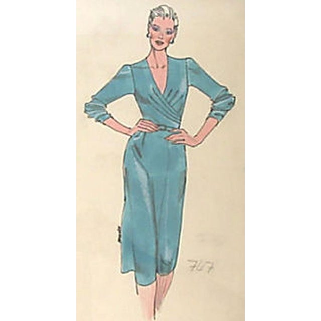 Framed Fashion Sketch for Neiman Marcus - Image 2 of 2