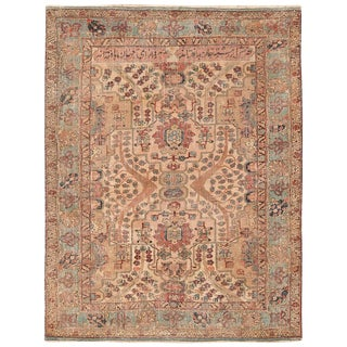 17th Century Small Size Persian Khorassan Rug For Sale