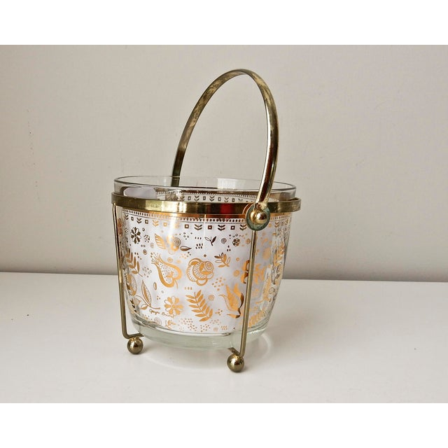 Georges Briard Glass 24K Gold Ice Bucket - Image 2 of 7