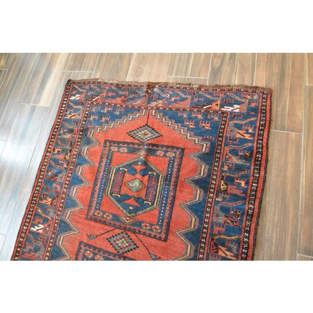 Antique Persian Kelardasht Rug Runner - 4′3″ × 8′6″ For Sale - Image 5 of 10