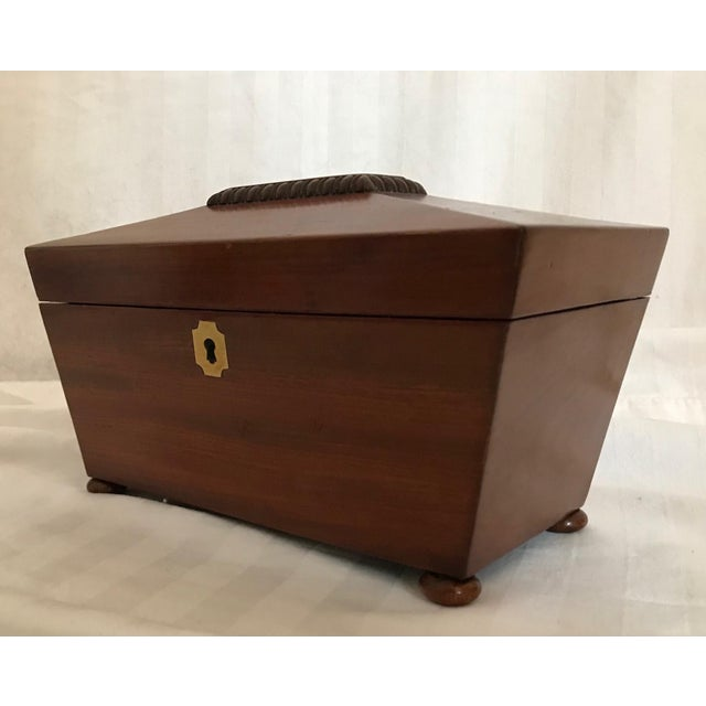 English 19th Century English Rosewood Tea Caddy For Sale - Image 3 of 11