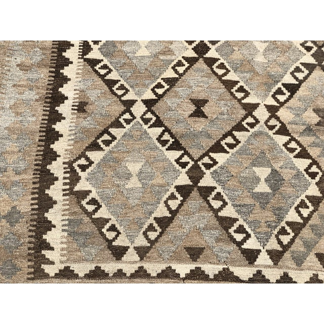 2010s Nomad's Afghan Chobi Kilim Rug - 6′9″ × 9′9″ For Sale - Image 5 of 9