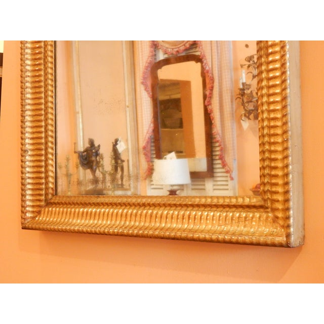 19th C. Charles X Gold Gilt Mirror For Sale - Image 4 of 7