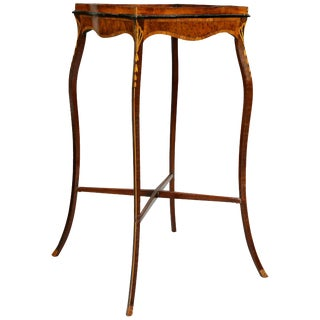 George III Mahogany and Inlaid Kettle Stand For Sale