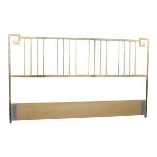 Mastercraft Greek Key Brass King Size Headboard For Sale