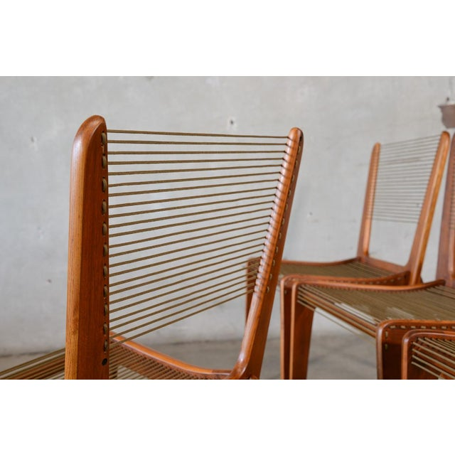 Jacques Guillou Modern String Chairs - Set of 4 - Image 4 of 8