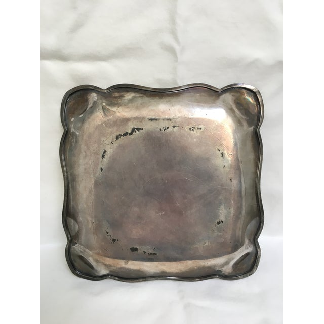 Late 19th Century Antique James Tufts Silver Plate Pitcher & Tray For Sale - Image 10 of 13