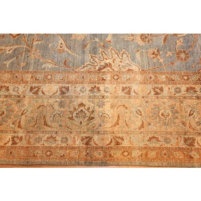 Blue Large Antique Sky Blue Persian Kerman Carpet For Sale - Image 8 of 11