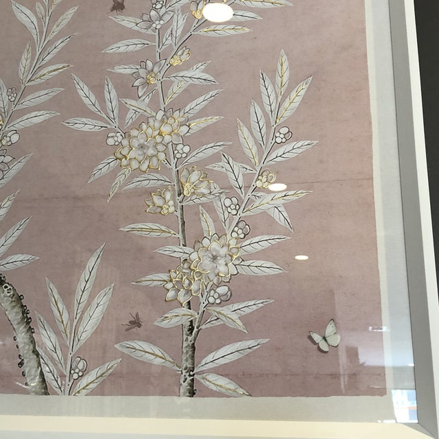 Wood Chinoiserie Art in Blush Print from Kenneth Ludwig Home For Sale - Image 7 of 11
