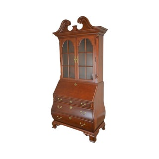 Thomasville Collectors Cherry Bombe Chippendale Secretary Desk For Sale
