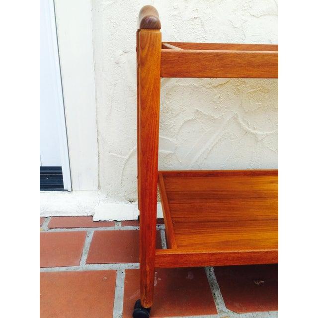 Dyrlund Style Mid-Century Teak Bar Cart - Image 4 of 8