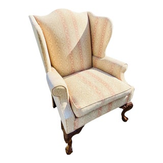 Hickory Chair Company English Style Wingback Chair For Sale