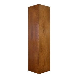 Tall Slim Oak Display Pedestal