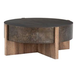 Erdos + Ko Bass Rustic Oak Coffee Table For Sale
