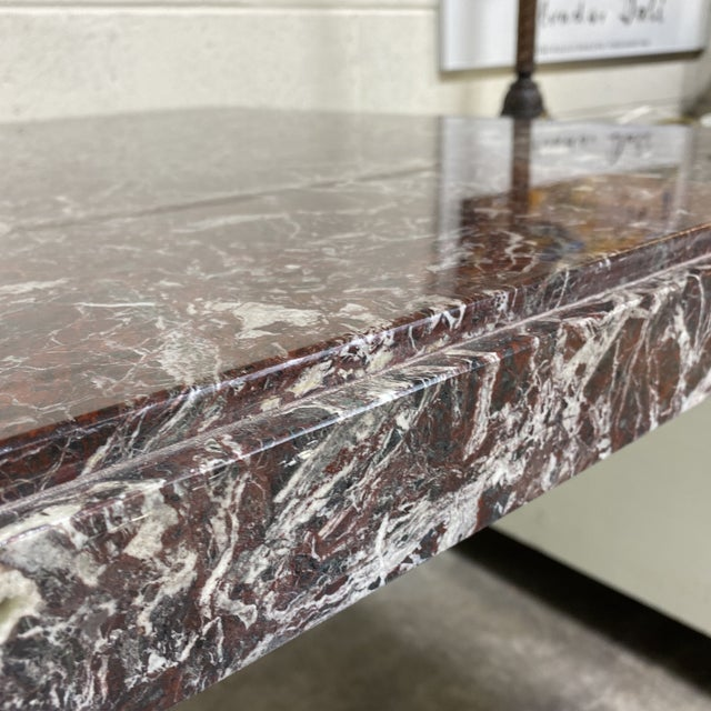 Monumental Marble Dining or Desk Table For Sale In Richmond - Image 6 of 13