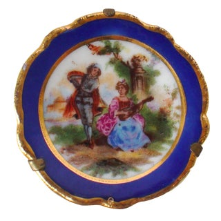 Limoges Miniature Lovers Plate For Sale