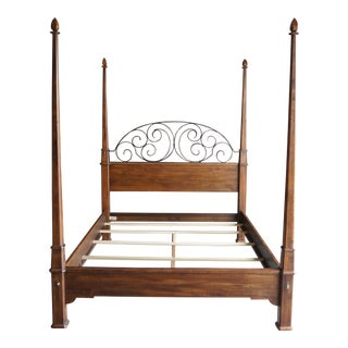 Ethan Allen Old World Treasures Queen 4 Post Bed For Sale