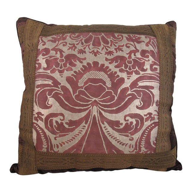 Renaissance Style Fortuny Pillow For Sale