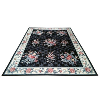 Needlepoint Handmade Rug - 8x11 - Size Cat. 9x12 For Sale
