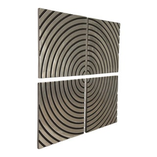 Phillips Collection Concentric Wall Tile, Set Of 4 For Sale