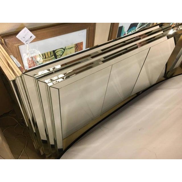 Silver Hollywood Regency 4-Door Mirrored Side Board or Dresser For Sale - Image 8 of 8