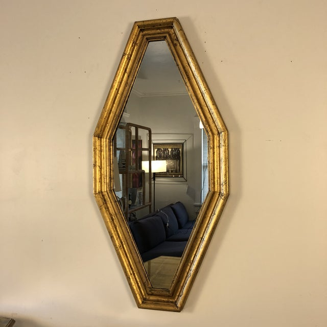 1950s Hollywood Regency Gold Console and Mirror For Sale - Image 10 of 13