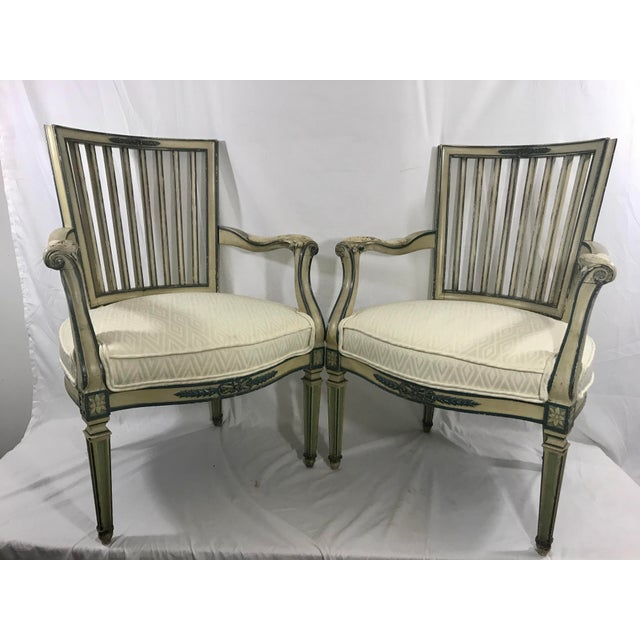 Wood Classical Italian Dining Chairs Set of 4 For Sale - Image 7 of 12