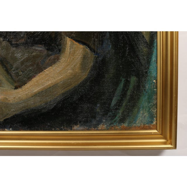 Impressionism Johan Sejg 'A Girl with Resolve' For Sale - Image 3 of 4