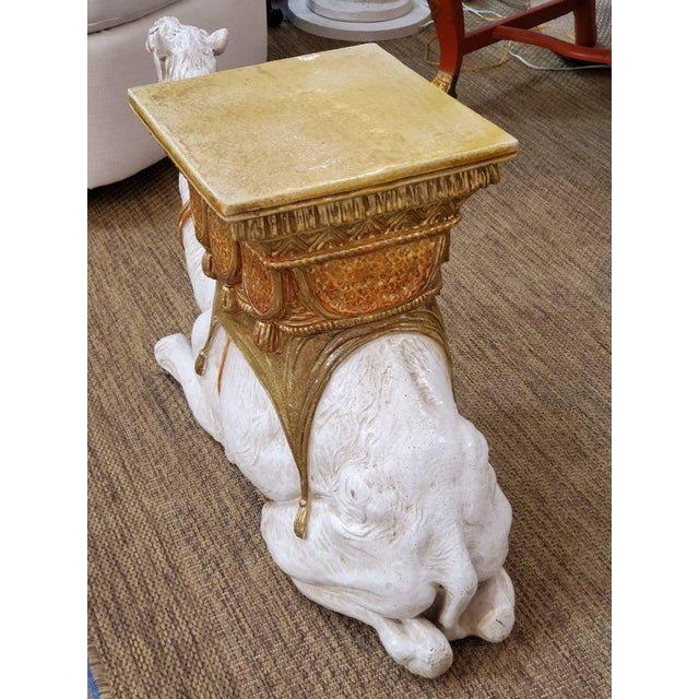 Large Ceramic Camel Plant Stand For Sale - Image 4 of 12