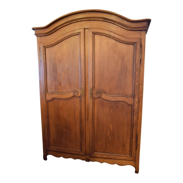 19th-Century French Chestnut Armoire For Sale