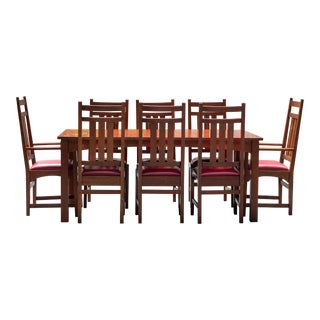 Stickley Harvey Ellis Dining Set With Inlay For Sale