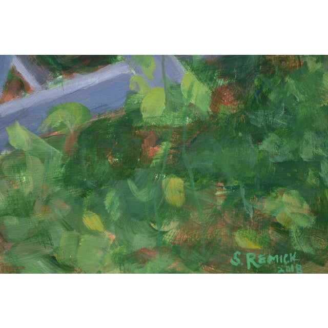 "Paint ""Forgotten Picnic Table"" Original Painting For Sale - Image 7 of 9"