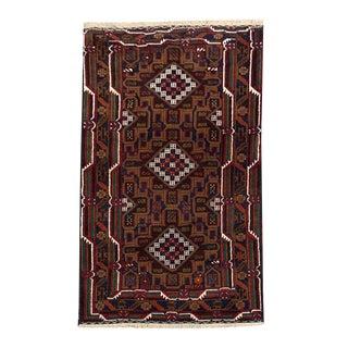 "Traditional Tribal Style Baluchi Handmade Rug - 3'7"" X 6'9"" For Sale"