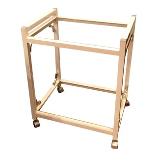 1970s Vintage Art Deco Brass Bar Cart For Sale
