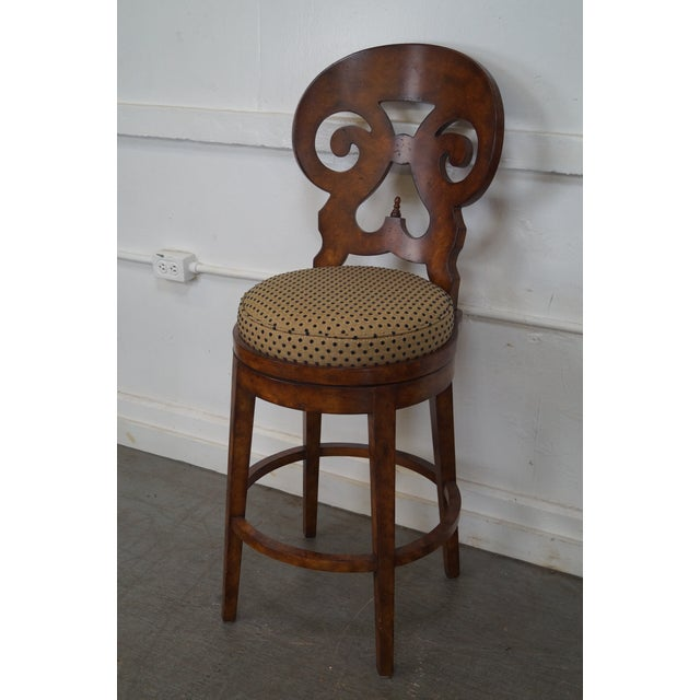 Biedermeier Style Swivel Bar Stools - A Pair - Image 8 of 10