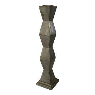 Geometric Silver Candlestick